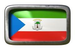 Equatorial Guinea flag sign. 3d rendering of a Equatorial Guinea flag on a rusty sign isolated on white background vector illustration