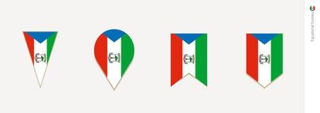 Equatorial Guinea flag in vertical design, vector illustration.  stock illustration