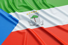 Equatorial Guinea flag Stock Image