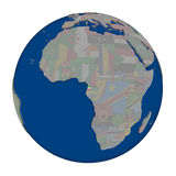 Equatorial Guinea on political globe Royalty Free Stock Photography
