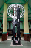 Equatorial Monument is located on the equator in Pontianak. Pontianak, Indonesia - Dec 28, 2015: Equatorial Monument is located on the equator. Its grand opening stock images