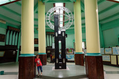 Equatorial Monument is located on the equator in Pontianak Stock Image