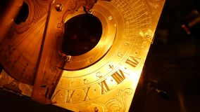 Equatorial sundial. Time measurement in antiquity. A tool for medieval travelers stock video footage