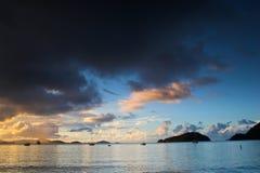 Equatorial sunset stock photos