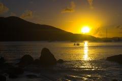Equatorial  sunset Stock Image