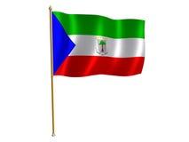 Equatoriale de zijdevlag van Guinea royalty-vrije illustratie