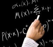 Equazioni di per la matematica Fotografia Stock
