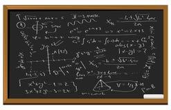 Equazioni di per la matematica della lavagna Immagine Stock