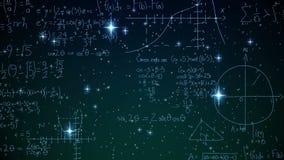 Equazioni matematiche illustrazione di stock