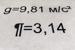 Equazioni sul campo da giuoco Immagini Stock