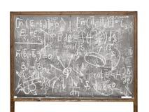 Equazioni sulla lavagna di vecchio stile Fotografie Stock Libere da Diritti