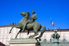 equestrial staty turin för hästpalazzoreale Arkivbild