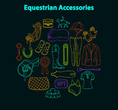Equestrian accessories set Royalty Free Stock Images