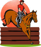 Equestrian And Horse Jumping Royalty Free Stock Photography
