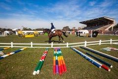 Equestrian Arena Horse Rider Gates Stock Image