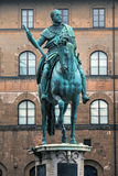 Equestrian bronze statue Stock Photos
