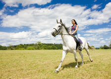 Equestrian a caballo Imagenes de archivo