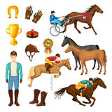 Equestrian Cartoon Elements Collection Royalty Free Stock Photo