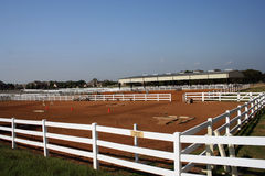 Equestrian Center. For boarding and training horses Royalty Free Stock Photos