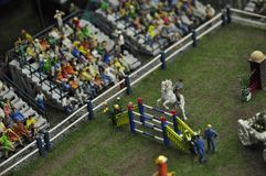 Miniature. Equestrian competition in miniature - concours hippique Royalty Free Stock Photos