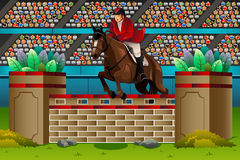Equestrian in the competition Royalty Free Stock Photos