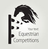 Equestrian competitions - vector illustration of horse Royalty Free Stock Photo
