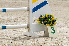 Equestrian concours ring Stock Images