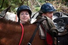 Equestrian Couple Stock Image