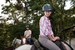 Equestrian Couple Stock Image