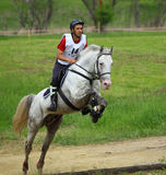Equestrian cross-country rider. Village Prod, Sibiu County, Romania - May 19, 2012: Transylvania Horse Show - one of the best University equestrian competition Stock Photos