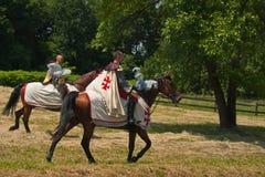Equestrian Crusaders Stock Photo