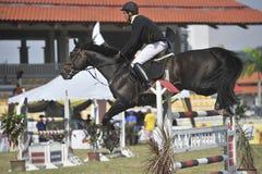Equestrian de salto de la demostración primera de Cup 2010 Fotografía de archivo