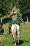 Equestrian demonstration in traditional costumes Royalty Free Stock Photos
