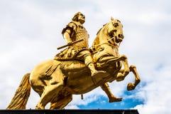 Equestrian dorato immagine stock