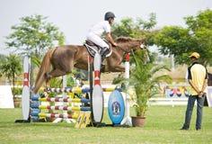 equestrian doskakiwania przedstawienie Fotografia Stock