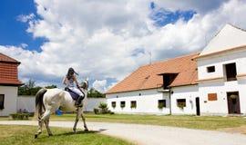 Equestrian em horseback fotografia de stock royalty free