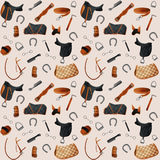 Equestrian equipment seamless. Equipment horse seamless pattern. Seamless Vector illustration Royalty Free Stock Images