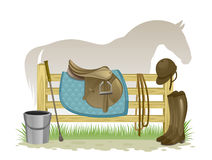 Equestrian equipment Royalty Free Stock Photo
