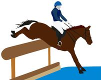 Equestrian Eventing Sport. Conceptual image showing sportsman prcticing Stock Photo
