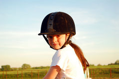 Equestrian girl Royalty Free Stock Photo
