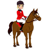 Equestrian Girl With Horse Stock Images
