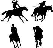 Equestrian horse racing Royalty Free Stock Images
