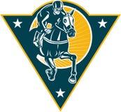 Equestrian Horse Racing Jockey Retro Stock Images