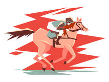 Equestrian horse racing Stock Image