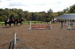 Jumping Day in Middle, Tennessee. Equestrian Horse ranches are very poplar in Middle Tennessee. The term Equestrian refers to the skill of riding, driving royalty free stock image