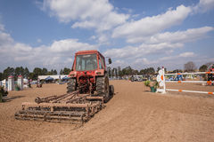 Equestrian Horse Show Arena Tractor Royalty Free Stock Image