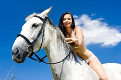 Equestrian on horseback Royalty Free Stock Photo