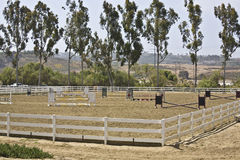 Equestrian hunter/jumper show ring Royalty Free Stock Photos