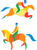 Equestrian Icon Stock Images