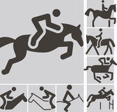 Equestrian icons Royalty Free Stock Image